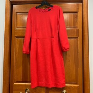 Stunning wool crepe red J.Crew dress